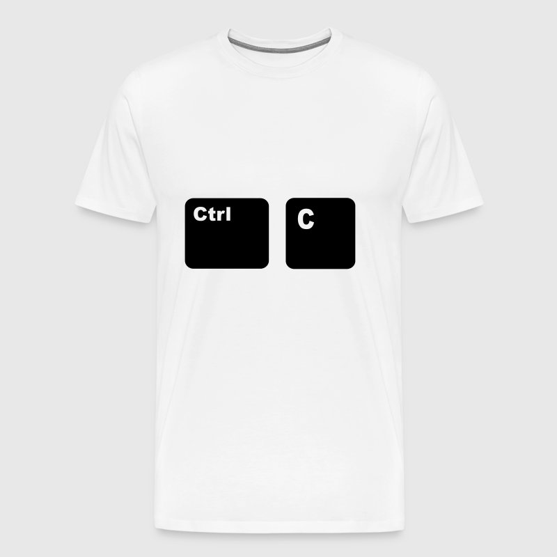 Ctrl C Copy and Paste Father and Son Partners Shi - Men's Premium T-Shirt