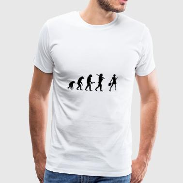 Evolution development progress secretary office - Men's Premium T-Shirt