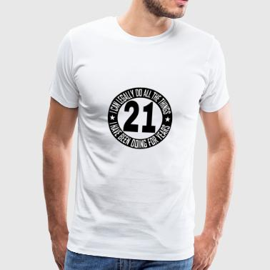 21 21st birthday gift, 21 years old party celebration - Men's Premium T-Shirt