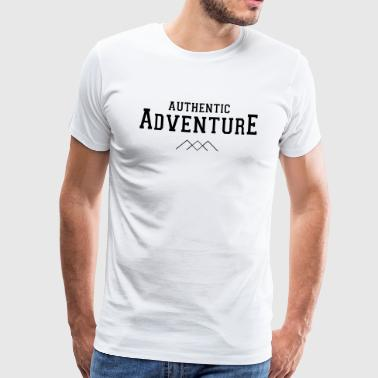 AUTENTISK ADVENTURE - Premium T-skjorte for menn