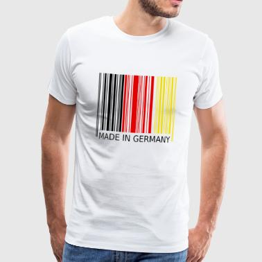 Streckkod Made in Germany - Premium-T-shirt herr