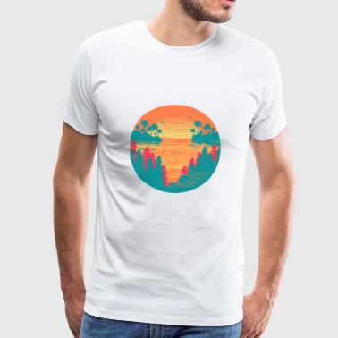 Tropical sunset - Men's Premium T-Shirt