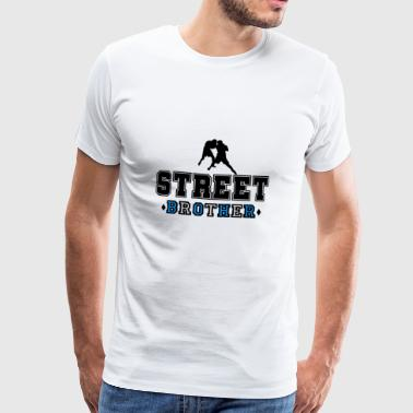 Nazi Fight Street Brother - Premium T-skjorte for menn