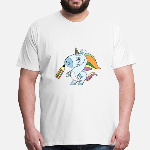 Einhorn Zeichnen Männer Premium T Shirt Spreadshirt