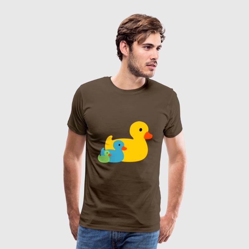 Squeaky ducks in yellow green and blue by Mulin | Spreadshirt