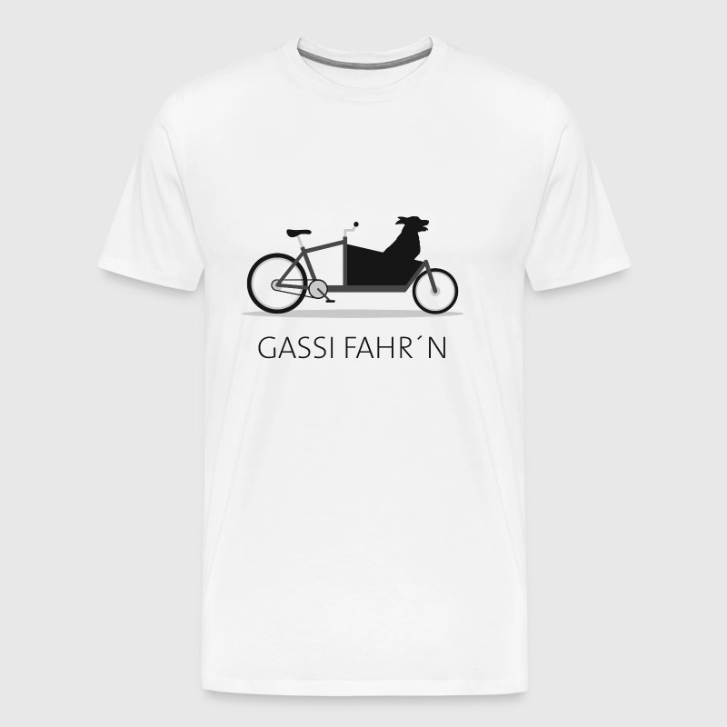 Cargo bike dog gassi - Men's Premium T-Shirt