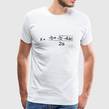 Quadratic Formula for all the Maths Disciples - Men's Premium T-Shirt