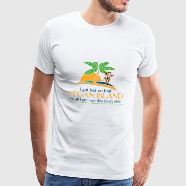 That Vegan Island Souvenir Tshirt - Men's Premium T-Shirt