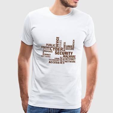 Cyber Security - Premium-T-shirt herr