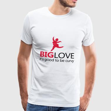 Big Love - Premium-T-shirt herr