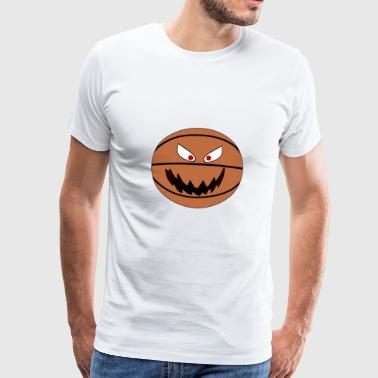 Basektball Smiley Emoticon - Männer Premium T-Shirt