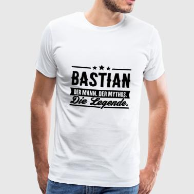 Man Myth Legend Bastian - Premium T-skjorte for menn