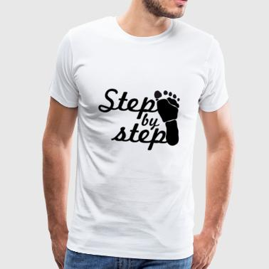 step by step - T-shirt Premium Homme