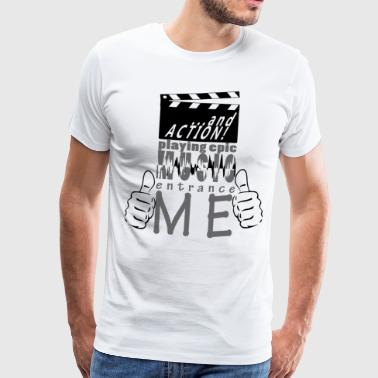 indgangen ME Movie Music epic black - Herre premium T-shirt
