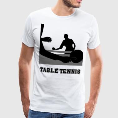 Bordtennis - Premium T-skjorte for menn