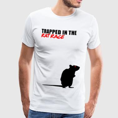 Trapped in the Rat Race - Men's Premium T-Shirt