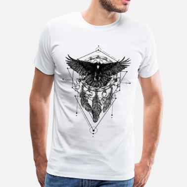 Hipster AD Crow - Men's Premium T-Shirt