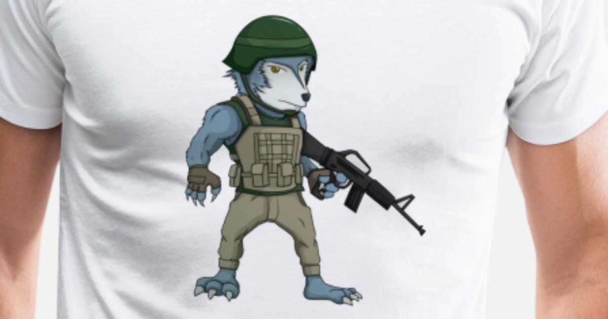 Personaggio dei cartoni animati di lupus di manikono spreadshirt