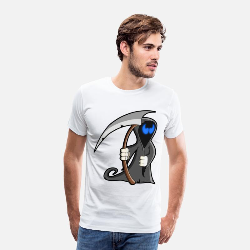 Halloween T-shirts - cartoon la faucheuse - T-shirt premium Homme blanc