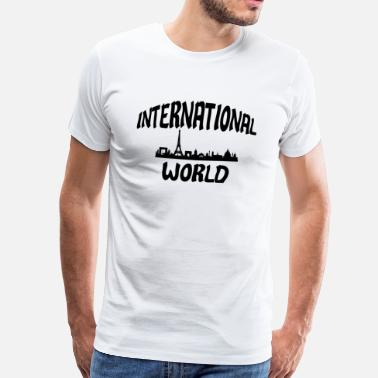 Internationale Wedstrijd De internationale wereld - Mannen Premium T-shirt