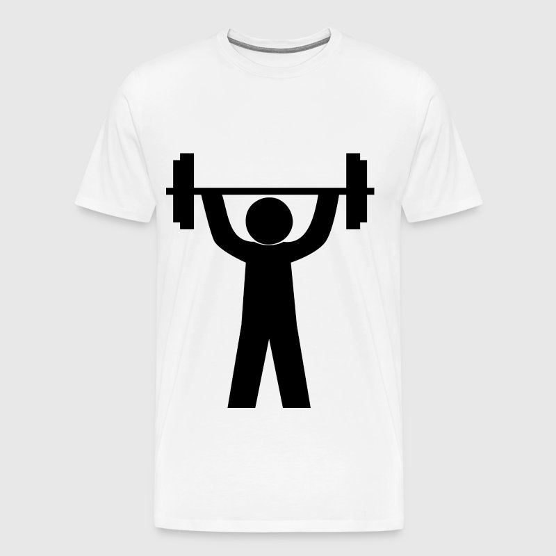 Stick figures with barbell! Gift idea Gym - Men's Premium T-Shirt