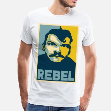 Rebel Vlag rebel - Mannen Premium T-shirt