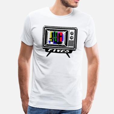 Broadcast FIVES old tv broadcast - Men's Premium T-Shirt