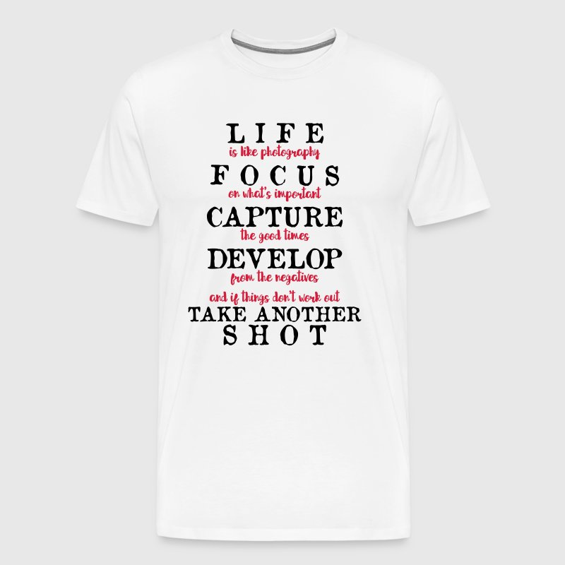 Life is like Photography - camera - Men's Premium T-Shirt