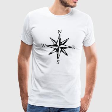 Wind Rose Vintage NESW (NO) - Premium T-skjorte for menn