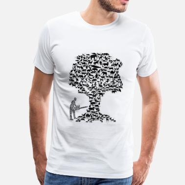 Naturecontest T-Shirt Humains vs. Nuage de mot nat - T-shirt Premium Homme