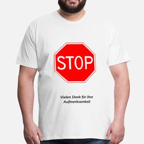 Grazie Per Lattenzione Maglietta Premium Uomo Spreadshirt