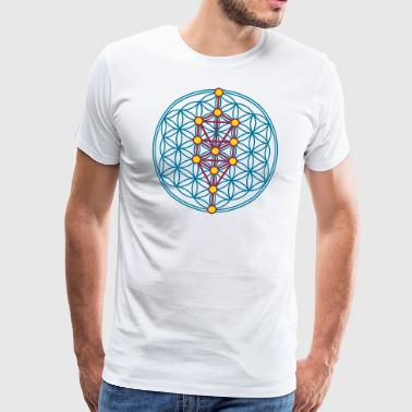 Sephiroth, Tree of Life & Flower of Life, Kabbalah - Men's Premium T-Shirt