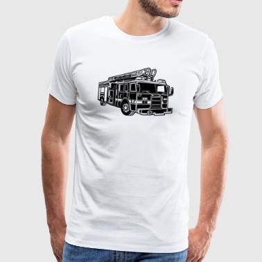 Firefighter Fire Truck / Firefighter Truck 01_sch - Men's Premium T-Shirt