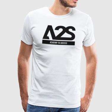 A2S Logo Black ACADEMY TO SUCCESS - Mannen Premium T-shirt
