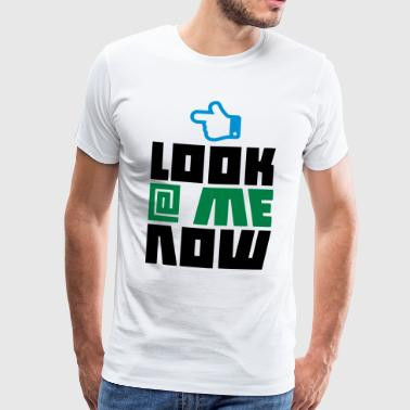 LOOK AT ME NU - THUMBS UP - Herre premium T-shirt