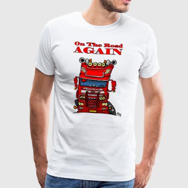 0613 daf fx on the road again - Mannen Premium T-shirt