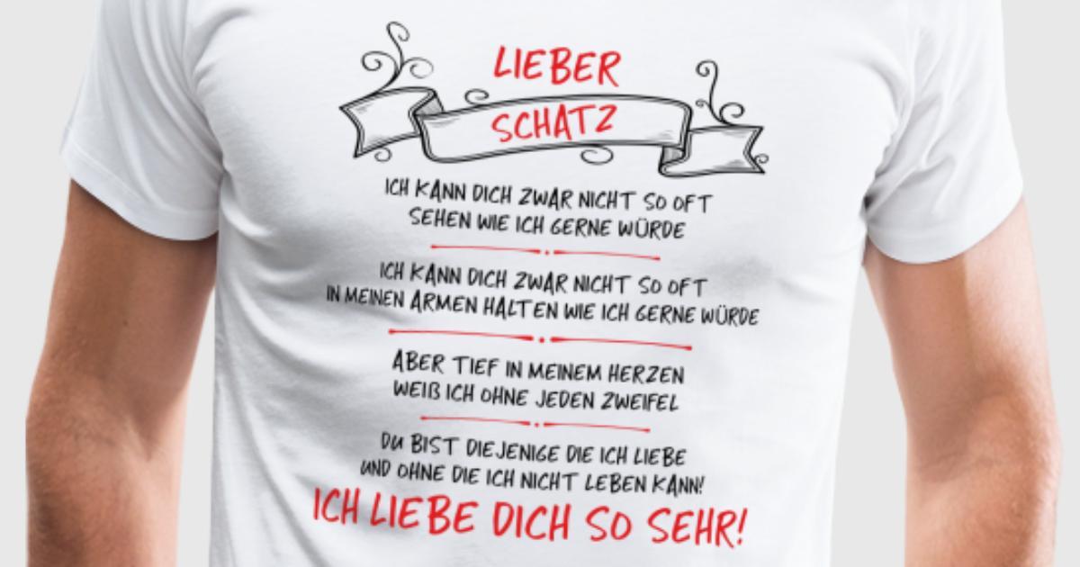 Lieber Schatz, ich liebe dich so sehr! T-Shirt   Spreadshirt