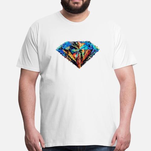 diamante abstracto Camiseta premium hombre | Spreadshirt