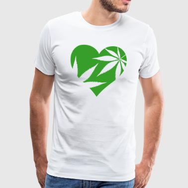 cannabis love - Men's Premium T-Shirt