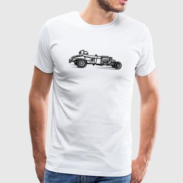 Rockabilly Hot Rod / Rat Rod 01_schwarz - Premium T-skjorte for menn