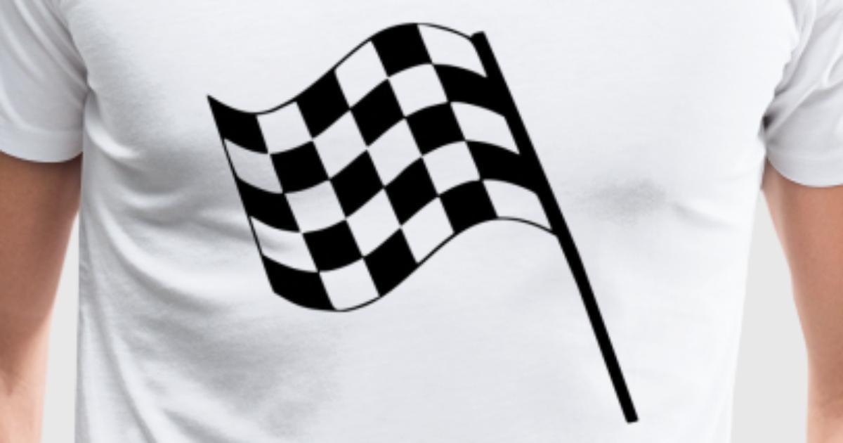 rennfahne schwarz wei geschenk f r rennfahrer von freedesigns spreadshirt. Black Bedroom Furniture Sets. Home Design Ideas