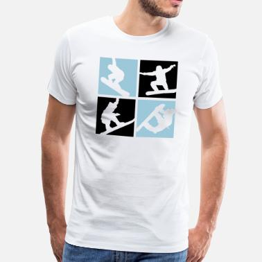 Sports Dhiver Snowboard - T-shirt premium Homme