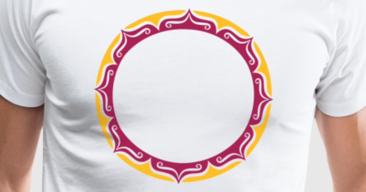Lotus, Blume, Rahmen, Vorlage, Dein Text, Kreis, von yuma | Spreadshirt