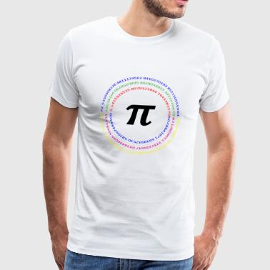 Pi Day Day Memorial Day Math Motive multicolored 3.14 - Men's Premium T-Shirt