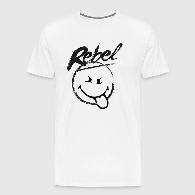 SmileyWorld Rebel - Maglietta Premium da uomo