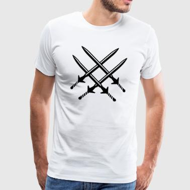 Crossed swords - Men's Premium T-Shirt