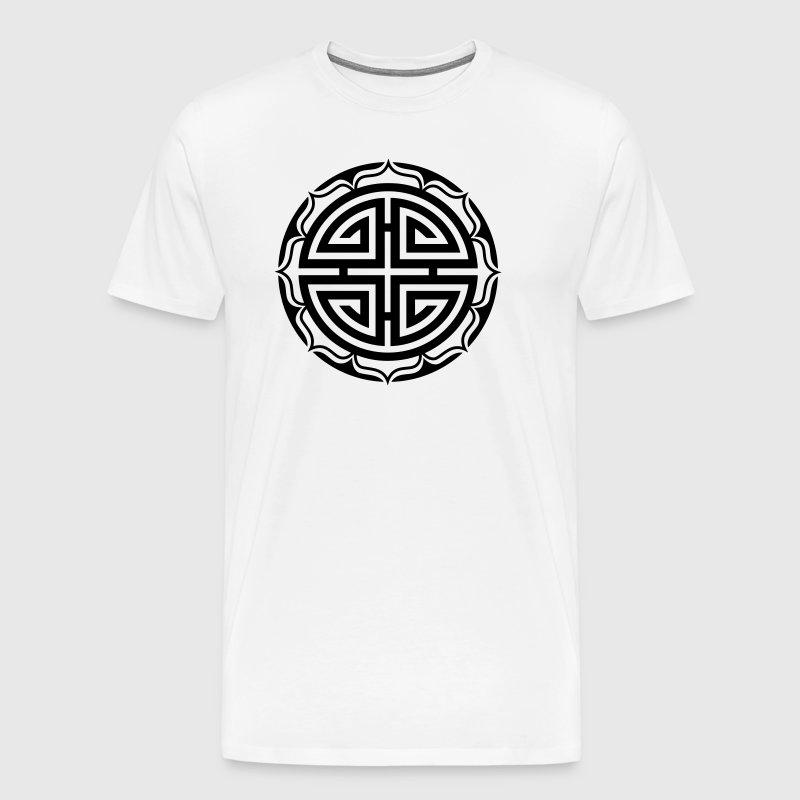 Four Blessings, Chinese Symbol, Fortune, Good Luck - Men's Premium T-Shirt