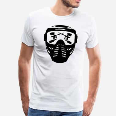 Paintball Gun Paintball mask with gun - Men's Premium T-Shirt