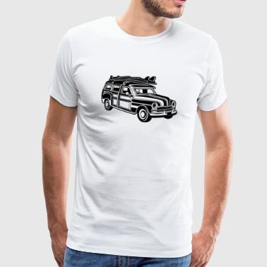 Chevy Cadilac Woodie / Vintage Kombi 01_black - Men's Premium T-Shirt