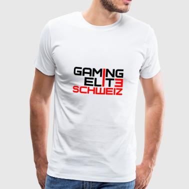 Suisse Humour T-shirt de joueur Pro Gaming Elite Switzerland - T-shirt Premium Homme
